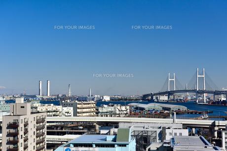 港の見える丘公園からの横浜ベイブリッジの素材 [FYI00245671]