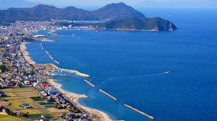 綺麗な讃岐の海岸沿いの写真素材 [FYI00247134]
