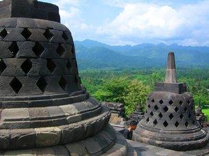 インドネシアのボロブドゥール遺跡1の写真素材 [FYI00247370]