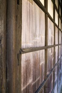 古民家の竹壁の写真素材 [FYI00248890]
