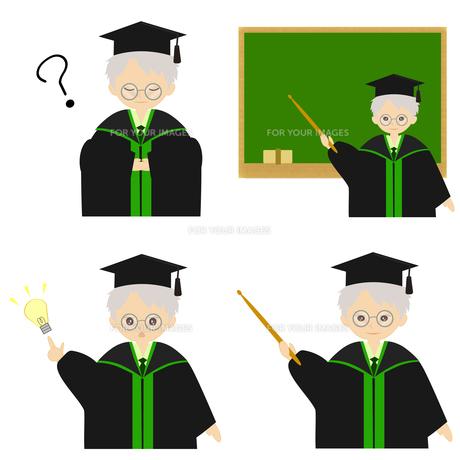 博士帽をかぶった人の説明の写真素材 [FYI00249061]