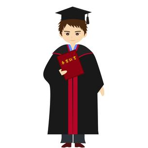 アカデミックガウンで卒業式の写真素材 [FYI00249064]