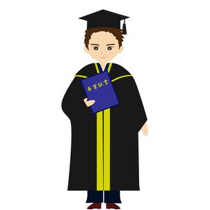 アカデミックガウンで卒業式の写真素材 [FYI00249067]