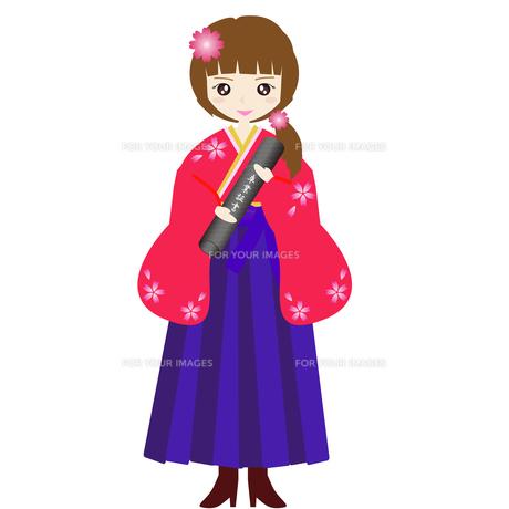袴で卒業式の写真素材 [FYI00249079]