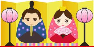 姫だるま風ひな人形の写真素材 [FYI00249085]