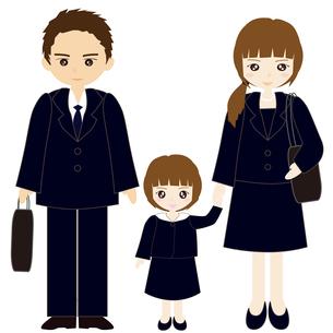 お受験の親子の写真素材 [FYI00249091]