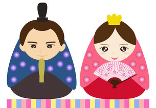姫だるま風ひな人形の写真素材 [FYI00249092]