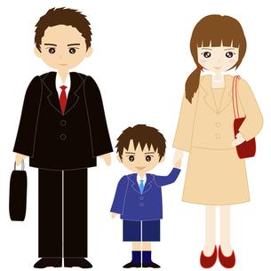 両親と息子の家族の写真素材 [FYI00249095]