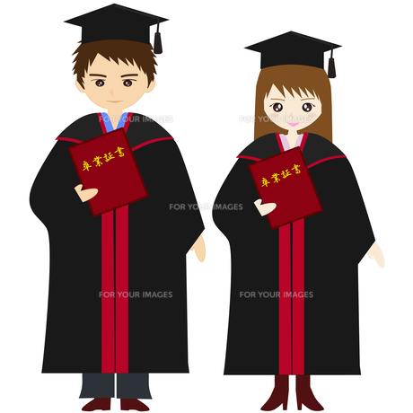 アカデミックガウンで卒業式の写真素材 [FYI00249096]