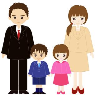 両親と息子と娘の家族の写真素材 [FYI00249100]