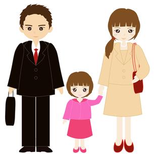 両親と娘の家族の写真素材 [FYI00249101]