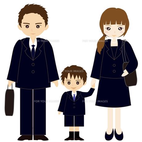 お受験の親子の写真素材 [FYI00249102]