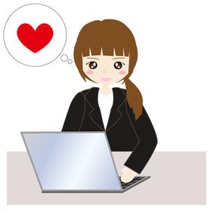 パソコンの前の女子社員の写真素材 [FYI00249123]