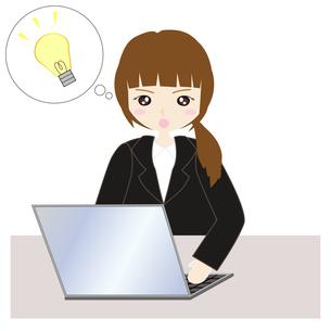 パソコンの前の女子社員の写真素材 [FYI00249136]