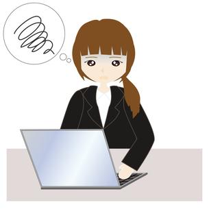 パソコンの前の女子社員の写真素材 [FYI00249138]