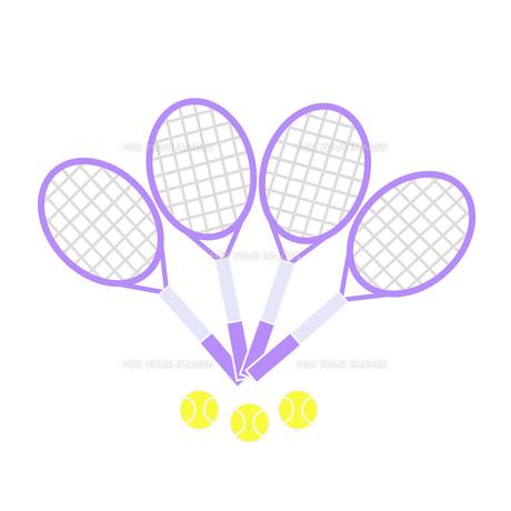 テニスラケットとボールの写真素材 [FYI00249167]