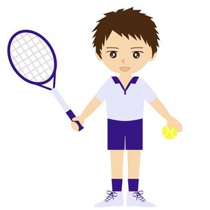 テニス男子の写真素材 [FYI00249168]