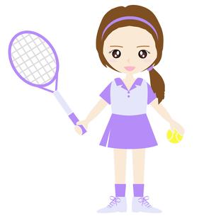 テニス女子の写真素材 [FYI00249169]