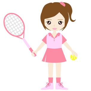 テニス女子の写真素材 [FYI00249171]