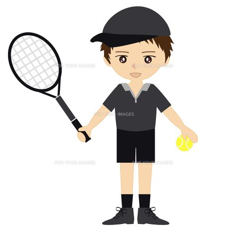 テニス男子の写真素材 [FYI00249174]