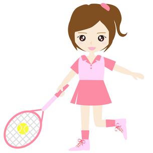 テニス女子の写真素材 [FYI00249175]