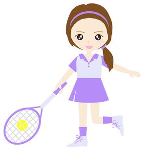 テニス女子の写真素材 [FYI00249178]