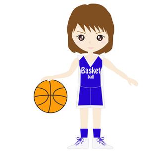 バスケットボール女子の写真素材 [FYI00249179]