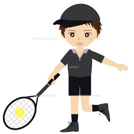 テニス男子の写真素材 [FYI00249188]