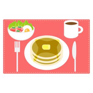 食べ物(パンケーキセット)の写真素材 [FYI00249202]