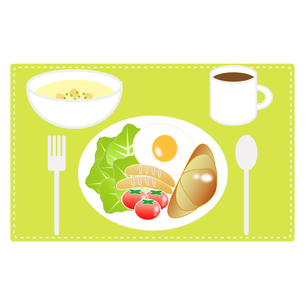 食べ物(洋朝食セット)の写真素材 [FYI00249204]
