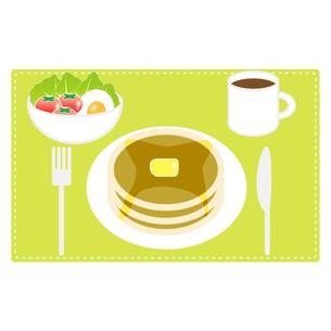 食べ物(パンケーキセット)の写真素材 [FYI00249210]