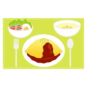 食べ物(オムライスセット)の写真素材 [FYI00249221]