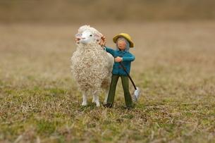 人形写真 羊飼いの少年の写真素材 [FYI00249235]