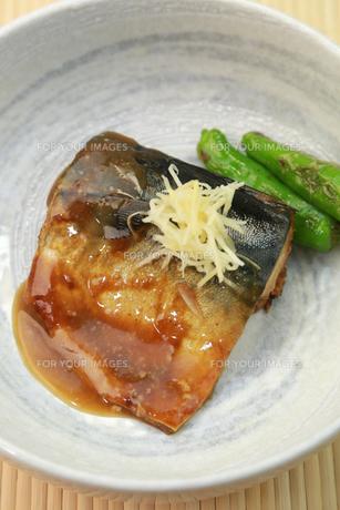 鯖の味噌煮の写真素材 [FYI00249455]