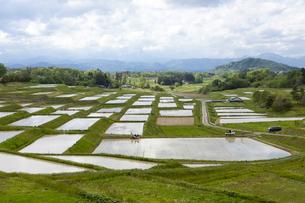 岩手 花巻市幸田の田園風景の写真素材 [FYI00249620]