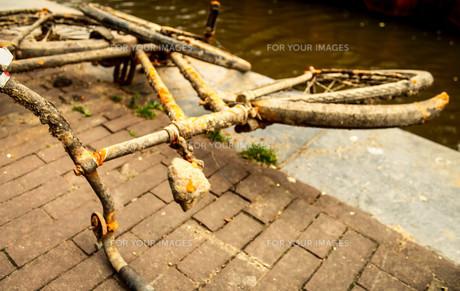 アムステルダムと自転車の素材 [FYI00249828]