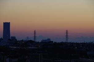 横浜の夜明けの写真素材 [FYI00249911]