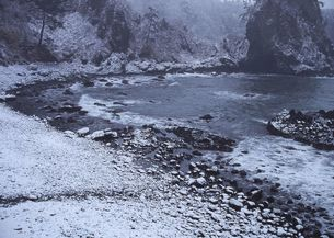 雪の巌門の写真素材 [FYI00250512]