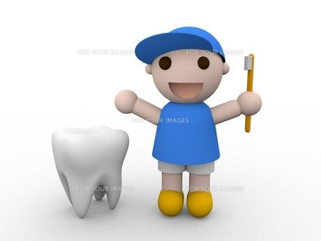 歯とこどもの写真素材 [FYI00250854]