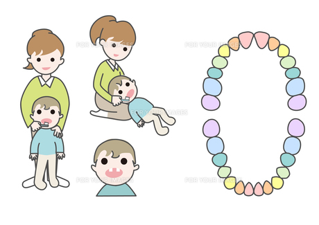 小児歯科歯磨きの写真素材 [FYI00250860]