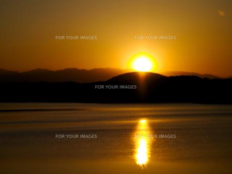狭山湖の日没の素材 [FYI00251081]