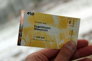 オランダの切符の写真素材 [FYI00251139]