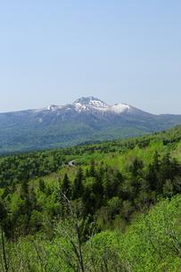 残雪のウペペサンケ山の写真素材 [FYI00251469]