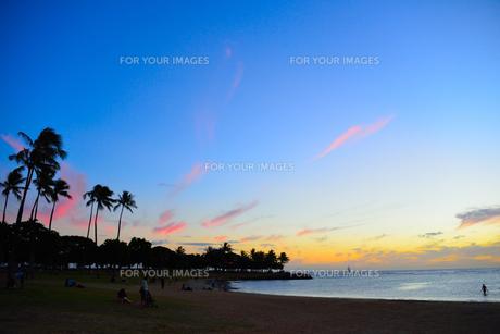 ハワイの夕暮れの素材 [FYI00251653]
