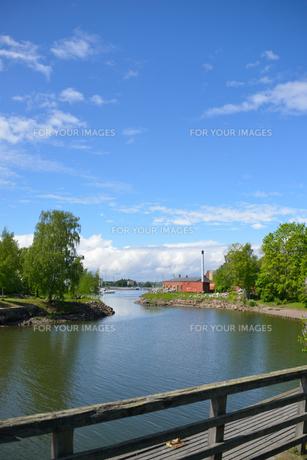 スオメンリンナ要塞の中の運河の写真素材 [FYI00251670]