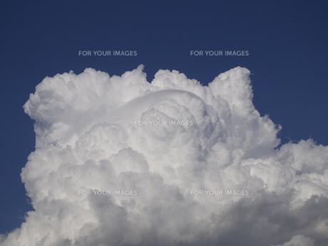 青空中の白雲(寄り)の素材 [FYI00252297]