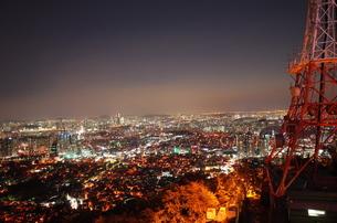韓国 ソウルタワーの夜景の写真素材 [FYI00253134]