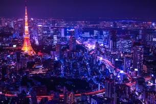 夜の東京タワーの写真素材 [FYI00253439]