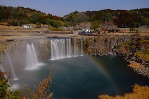原尻の滝の月虹の写真素材 [FYI00254192]