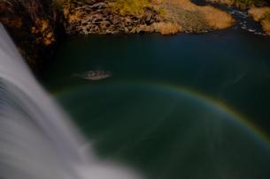 原尻の滝の月虹の写真素材 [FYI00254200]